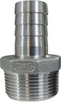 Picture of Stainless Steel 316 Hosetail, Hose Nipple - Hose Barb NPT