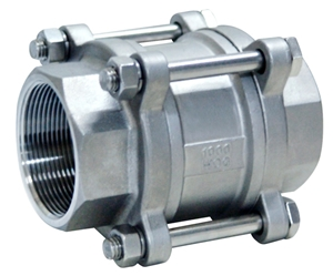 Picture of  SS 316 3-Piece Spring Loaded Check Valve FNPT