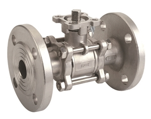 Picture of 3 -Piece Type Ball Valve with Flange