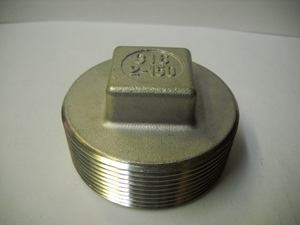 Picture of SS 316 CL150 FNPT Square Plug #ANSP/6N