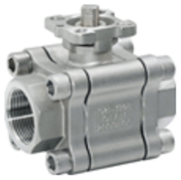 Picture of 3-Piece 316SS Full Port (Fire Safe) Ball Valve 2000 NPT