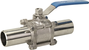 Picture of SS 316 Extended Weld end 3-Piece Full Port Ball Valve 1000