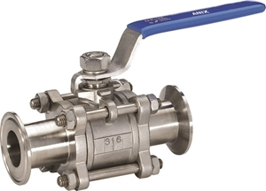 Picture of SS 316 Clamped-Package 3-Piece Full Port Ball Valve 1000