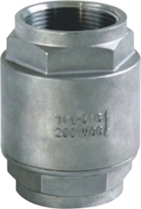 Picture of  SS 316 2-Piece inline Spring Check Valve High-Temp FNPT