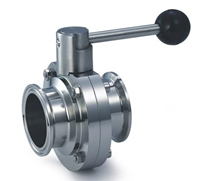 Picture of SS 316L Clamp-end Sanitary Butterfly Valve  EPDM - Pull Handle