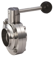 Picture of  SS 316L Butt Weld Sanitary Butterfly Valve  EPDM - Pull Handle