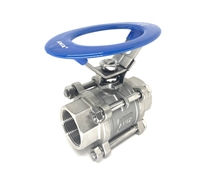 Picture of 3-Piece SS 316 Full Port Ball Valve 1000 Oval RPTFE NPT